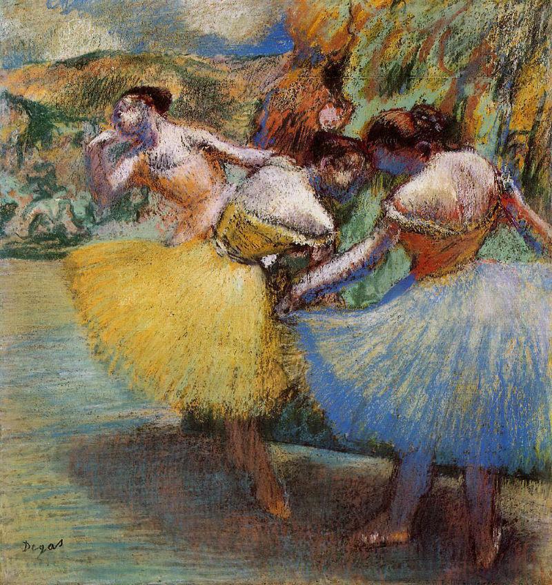 Эдгар Дега - Три танцовщицы - 1901 - Ordrupgaard Collection Copenhagen Denmark.jpg