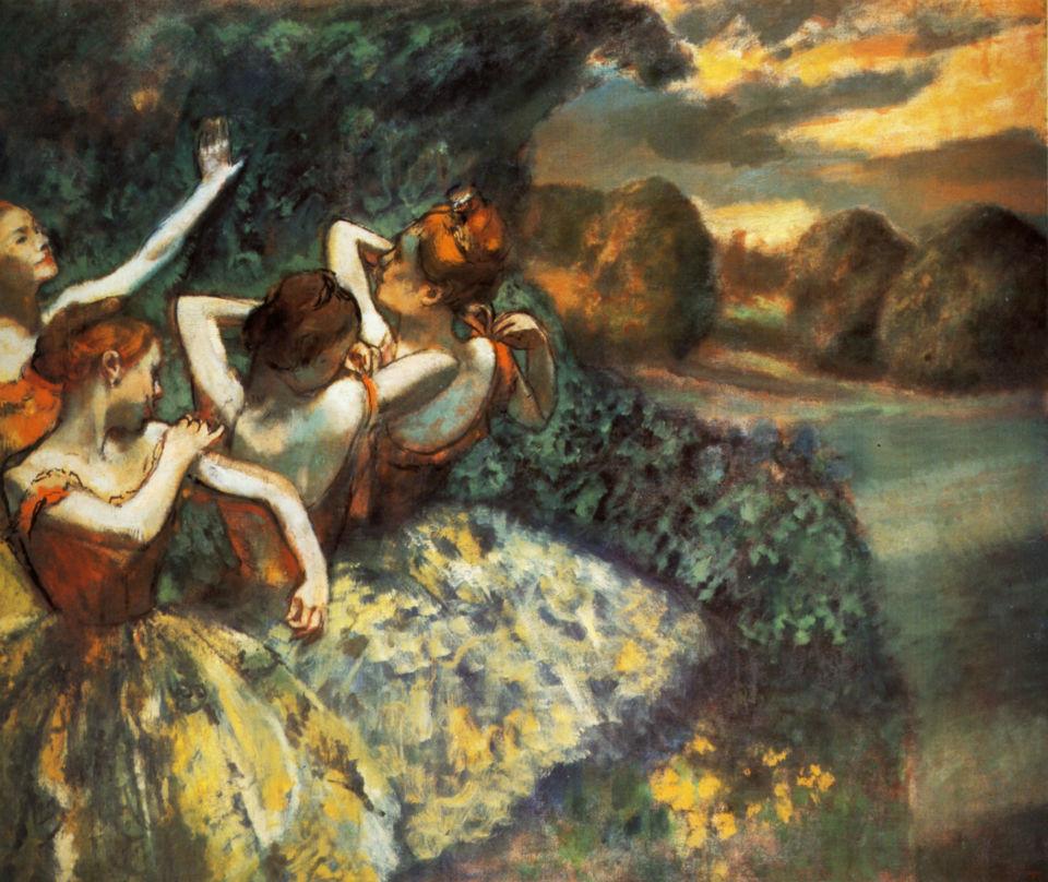 Эдгар Дега - Четыре танцовщицы - 1900 - National Gallery of Art Washingon USA.jpg