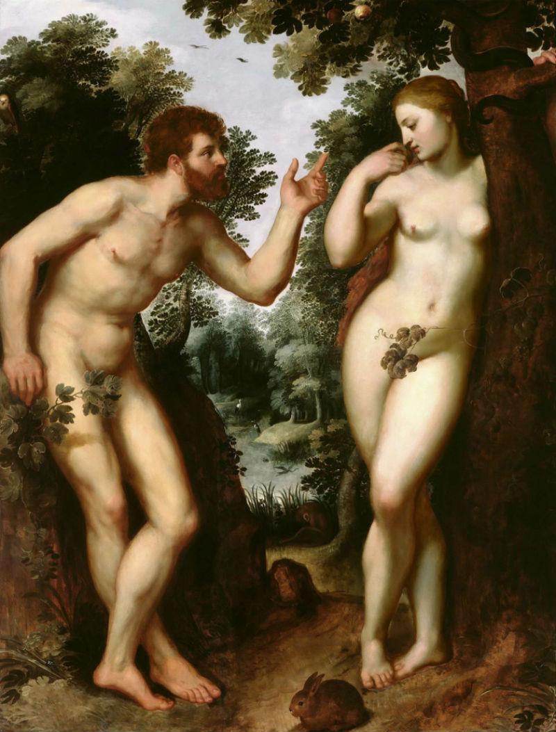 3- Питер Пауль Рубенс - Адам и Ева - 1597.jpg