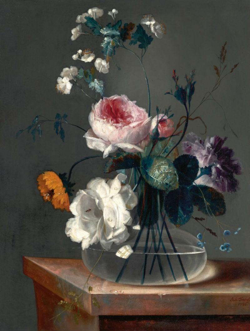 2-Иоганн Баптист Дрехслер - Цветочный натюрморт - 1786.jpg
