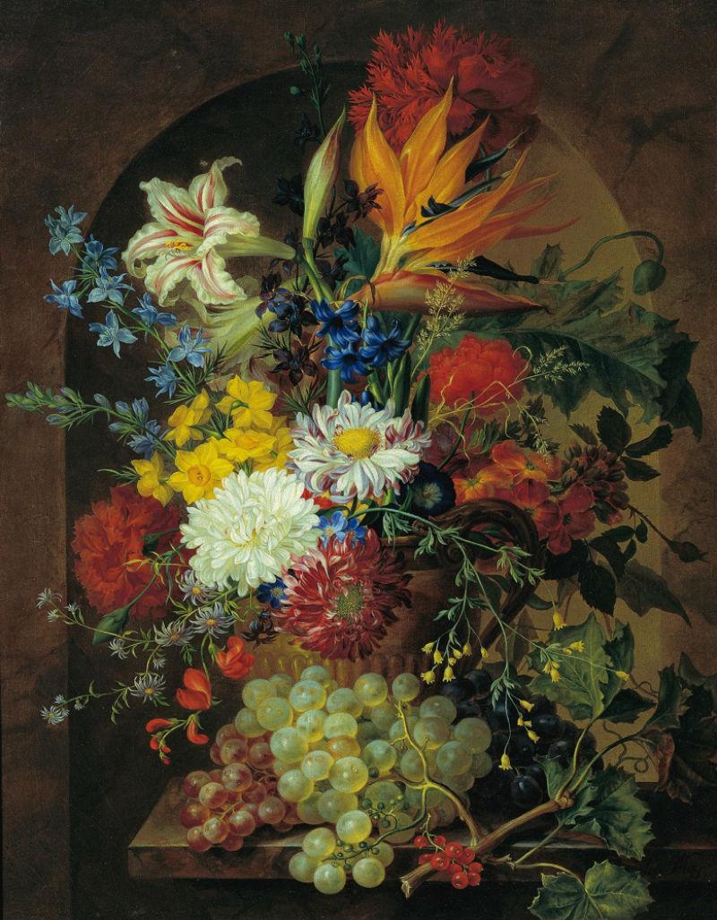 4-Йозеф Нигг - Цветочный натюрморт - 1838.jpg