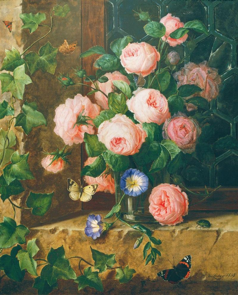 5-Йозеф Лауэр - Натюрморт с цветами 1839.jpg