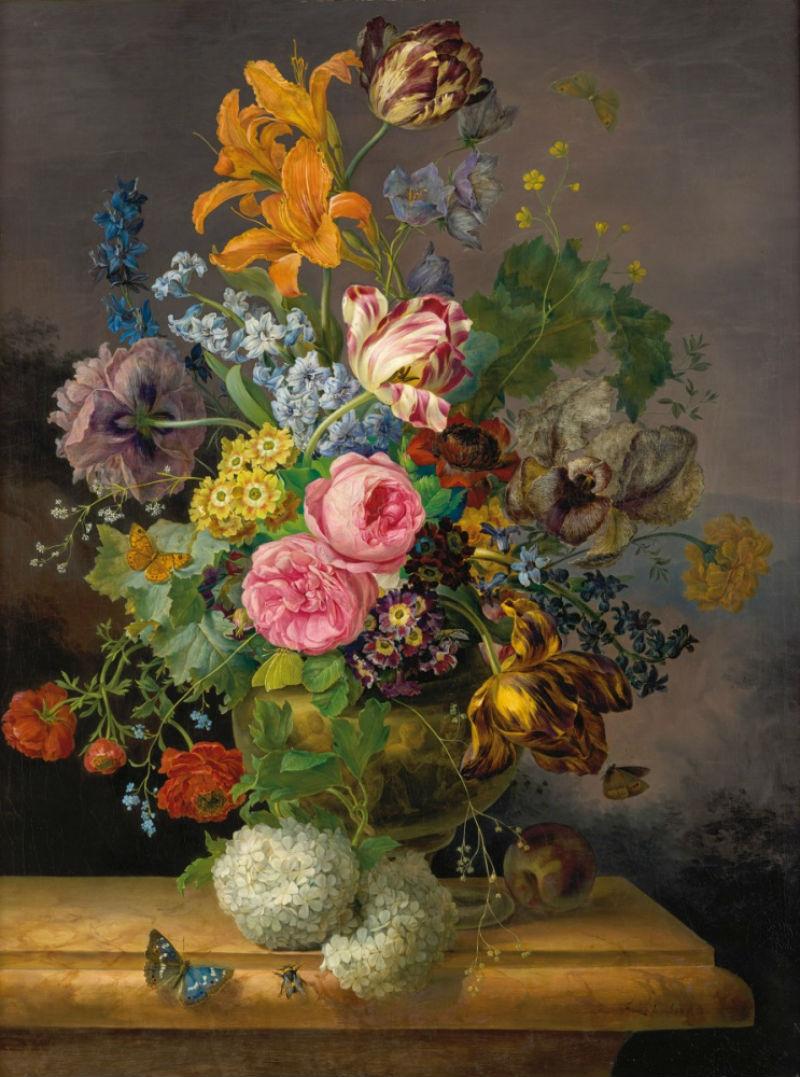 6-Франц Ксавьер Грубер - Натюрморт с цветами 1838.jpg