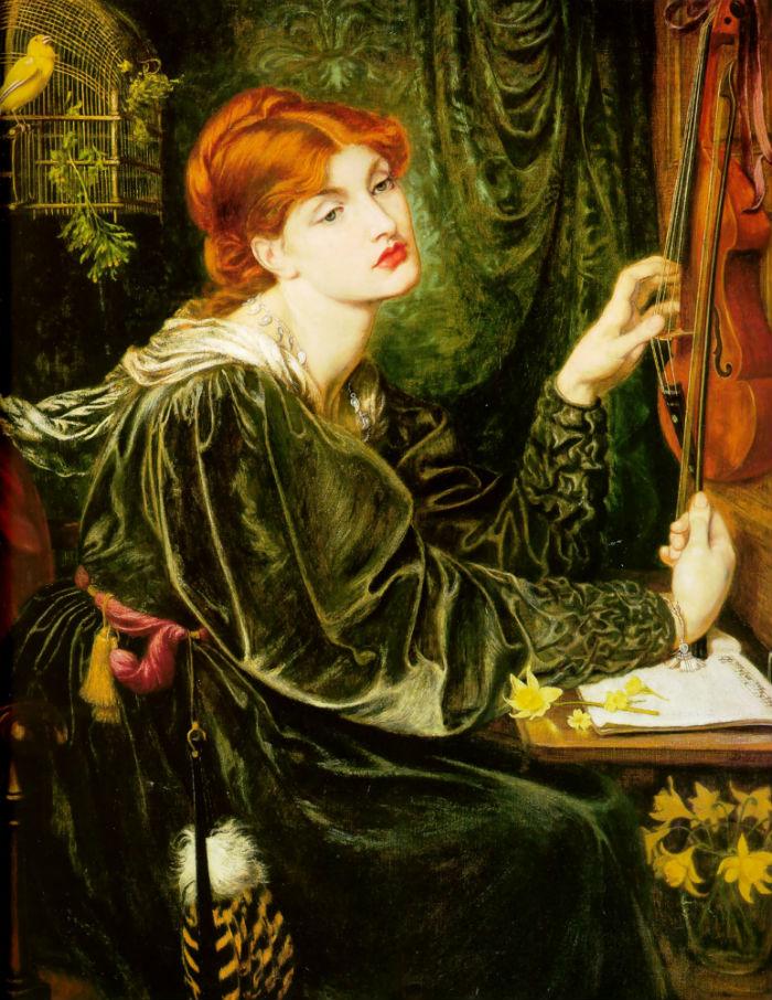 3-Данте Габриэль Россетти - «Вероника Веронезе» (1872) - Делавэрский художественный музей - Уилмингтон.jpg