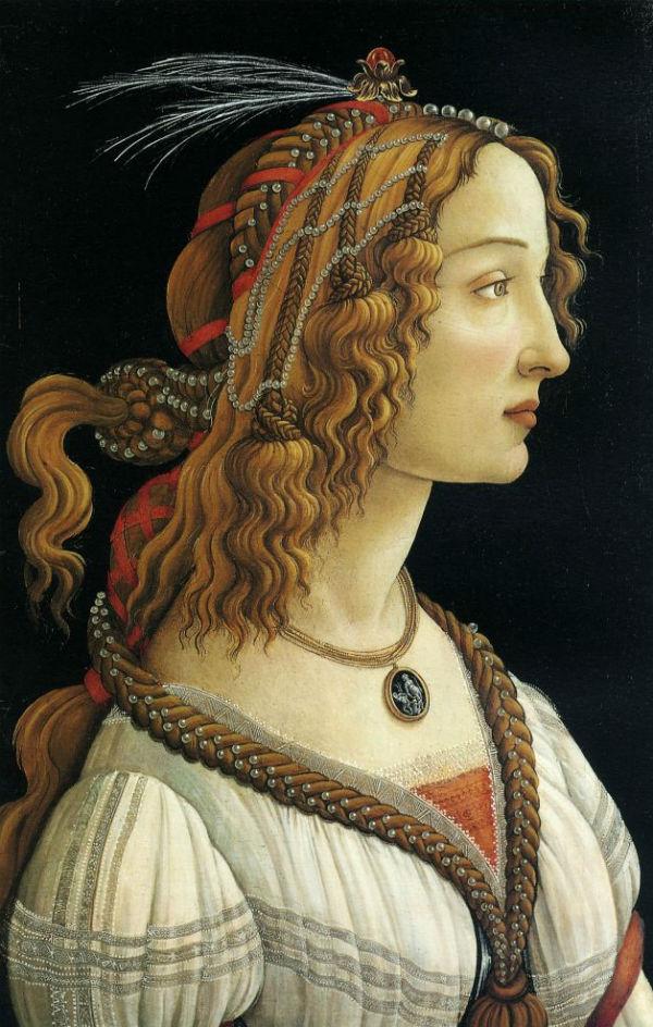 5-Сандро Боттичелли - «Идеализированный портрет дамы (Симонетта Веспуччи)» (1475) - Штеделевский художественный институт - Франкфурт.jpg