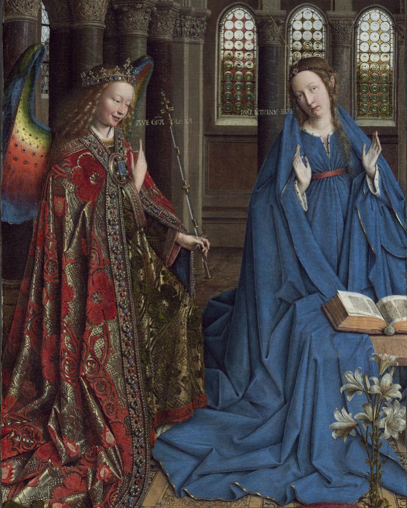 7-Ян ван Эйк - «Благовещение» (фрагмент) -  около 1436 - Национальная галерея - Вашингтон.jpg
