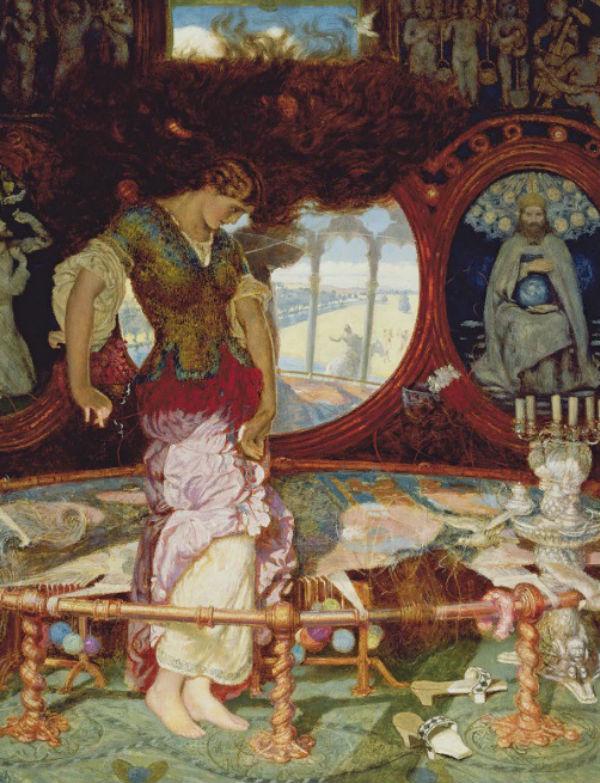 9-Уильям Холман Хант - Волшебница Шалотт - 1888.jpg