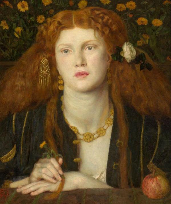 10-Данте Габриэль Россетти - Целуя твои уста (Портрет Фанни Корнфорт) - 1859.jpg