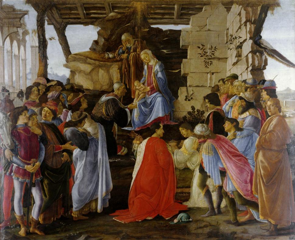 2-Сандро Ботичелли -  «Поклонение волхвов» (1475).jpg