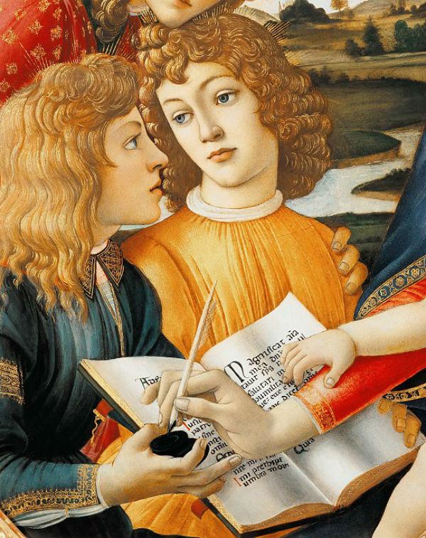 3-Сандро Ботичелли - Мадонна Магнификат (фрагмент).jpg