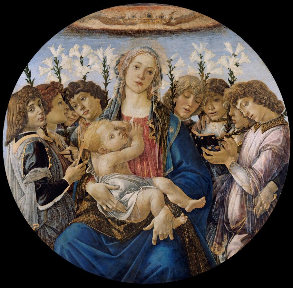 5-Сандро Ботичелли - Мадонна с поющими ангелами - 1477.jpg