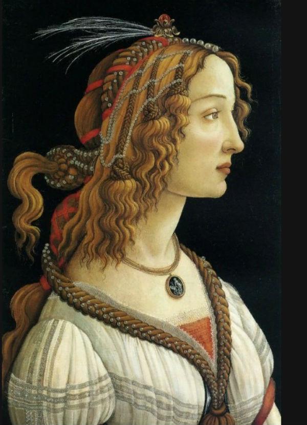 12-Сандро Ботичелли - Идеализированный портрет дамы - 1480.jpg