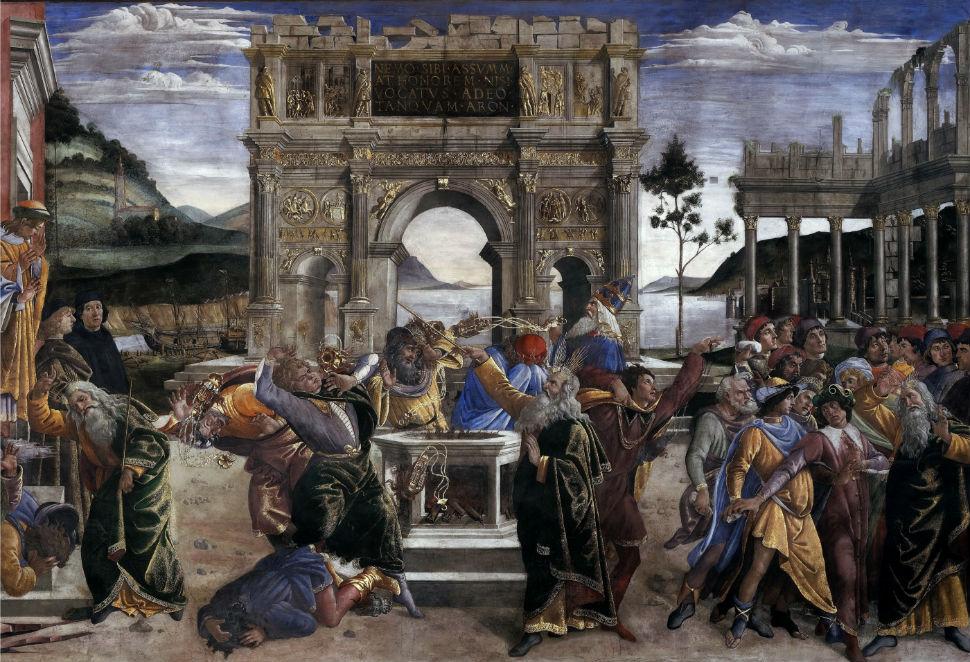 15-Сандро Ботичелли - Наказание восставших Левитов - 1482.jpg