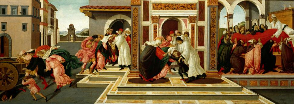 17-Сандро Ботичелли - Сцены из жизни святого Зиновия IV - 1505.jpg