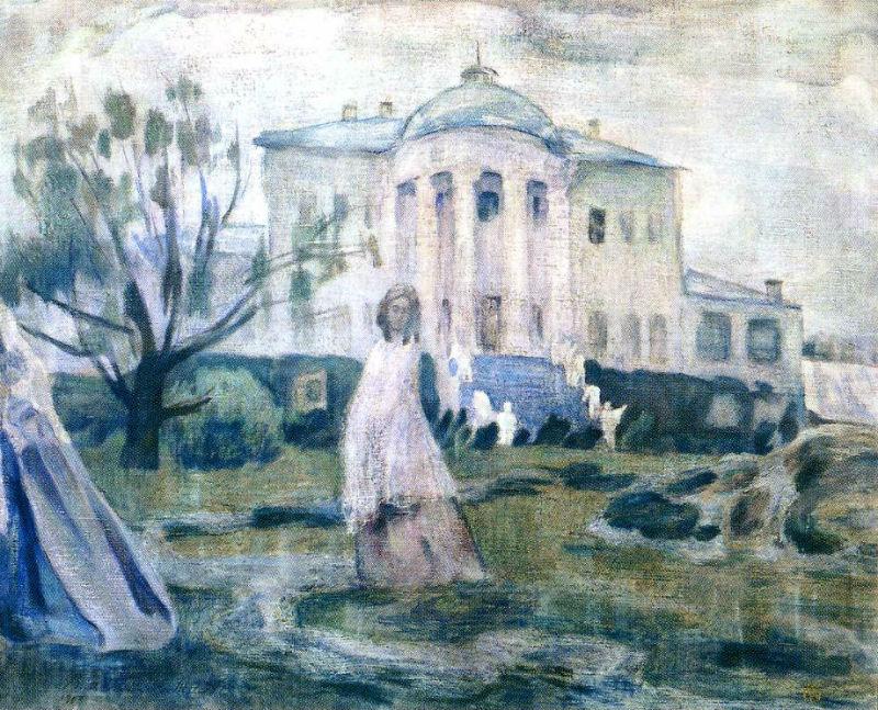 Призраки - 1903 - Художник запечатлел Южный фасад дворца в усадьбе Зубриловка.jpg