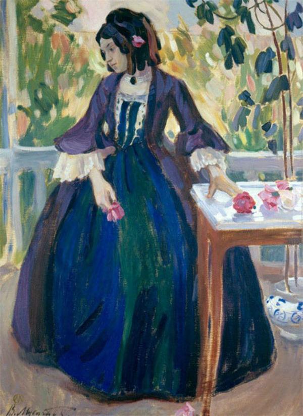 Осенний мотив - Дама в лиловом - 1901.jpg