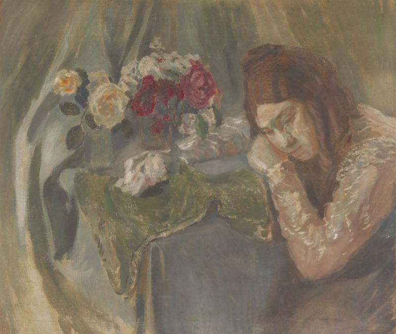 3-Девушка с розами - Портрет сестры - 1902.jpg