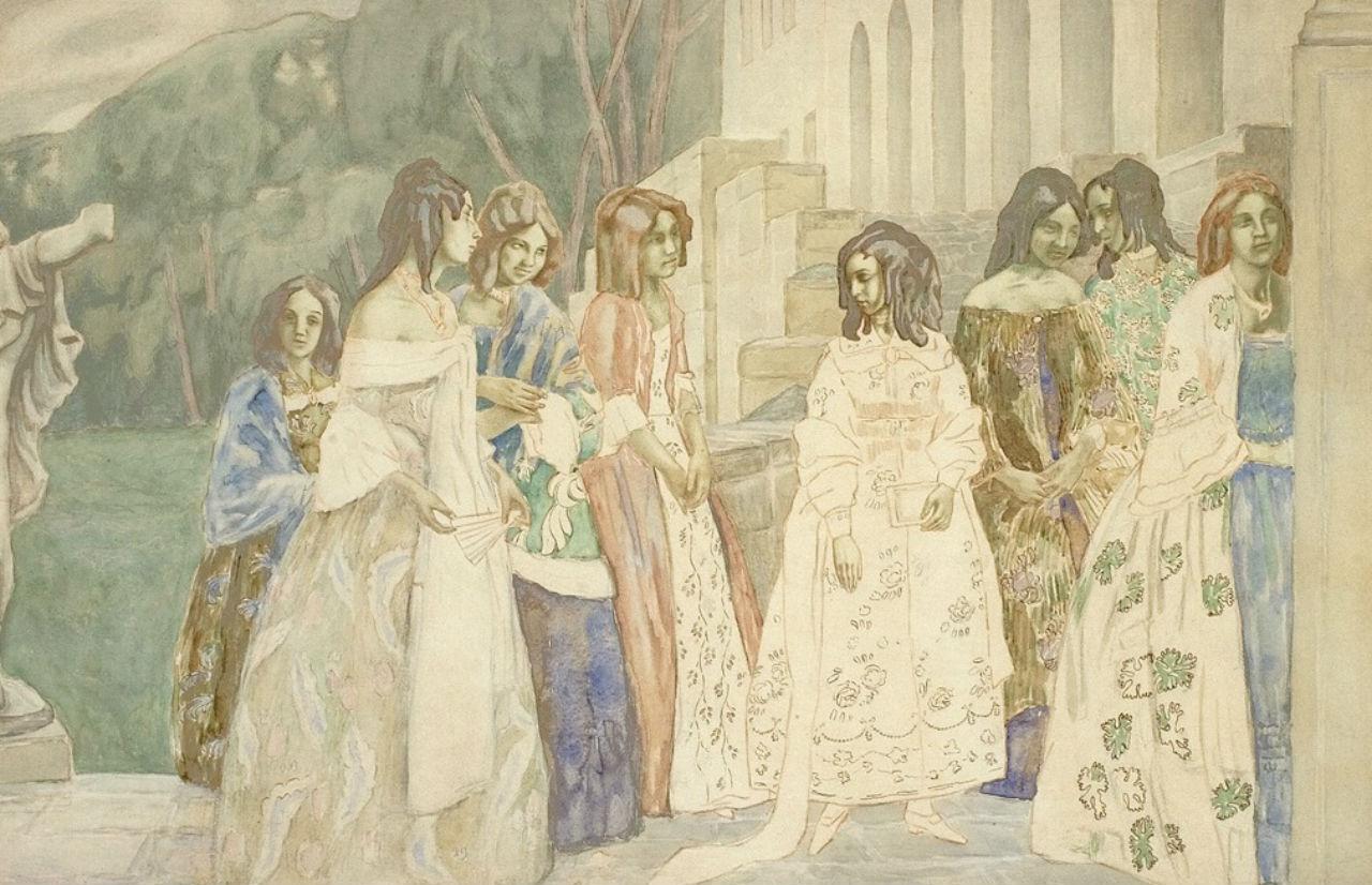 Реквием - Акварель - 1905 - Государственная Третьяковская Галерея.jpg
