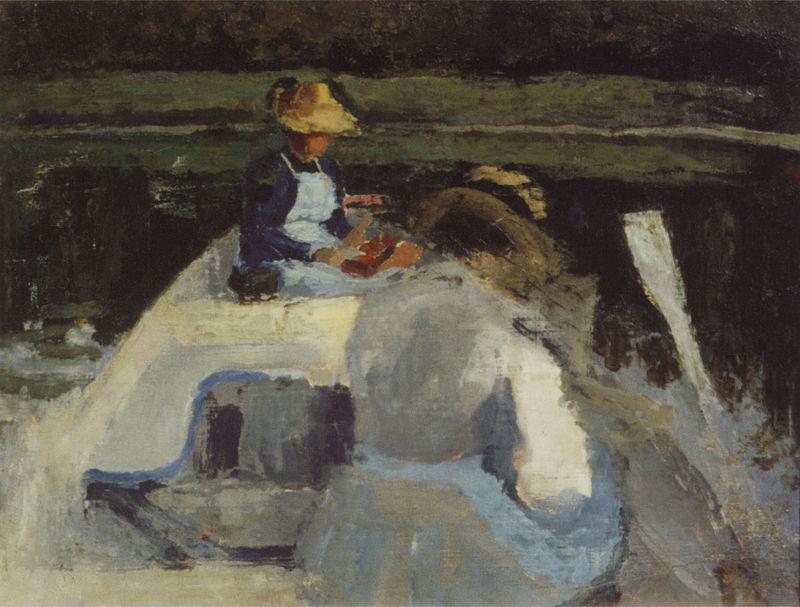 В лодке - Этюд - 1892-1894.jpg