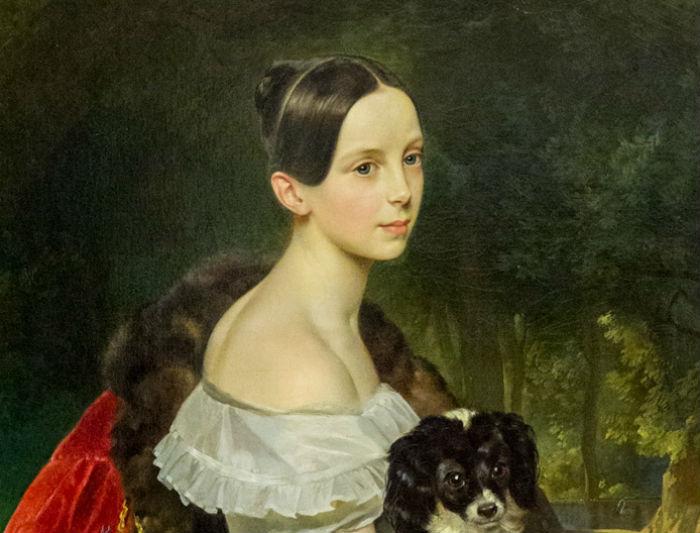 Карл Брюллов - Портрет великой княжны Александры Николаевны - 1837-1844 (фрагмент).jpg