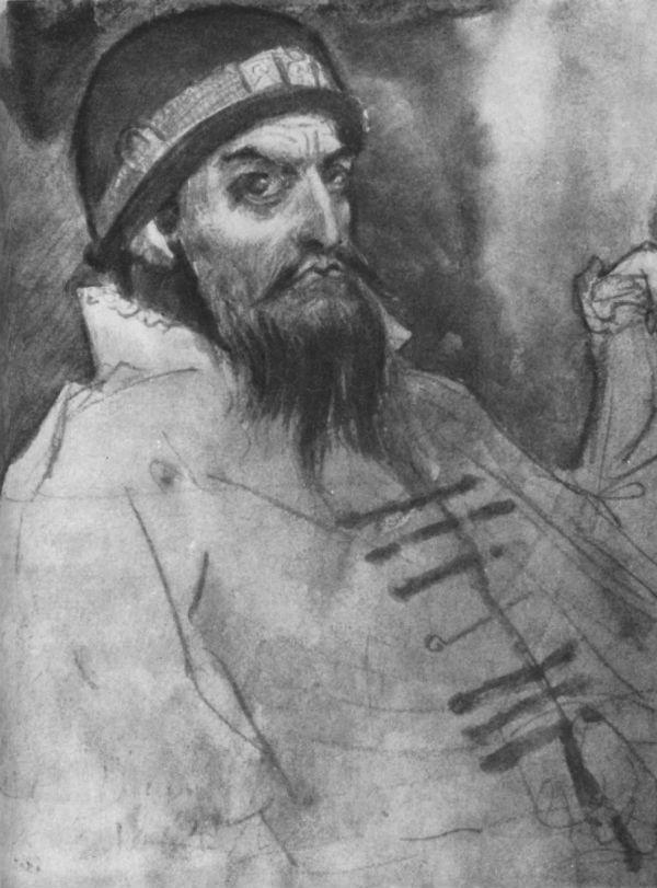 2-Виктор Васнецов - Эскиз к портрету Ивана Грозного - 1884.jpg