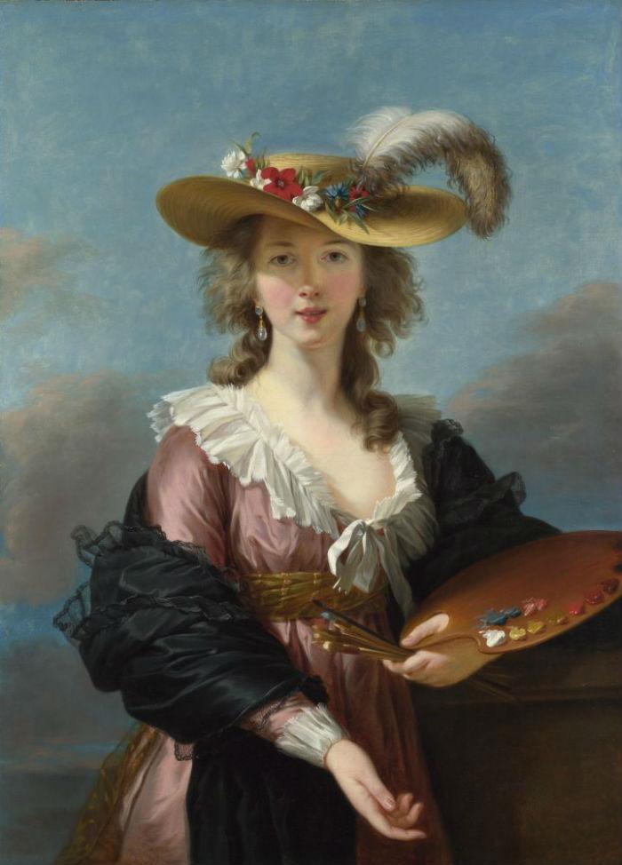 19-Автопортрет в соломенной шляпе - 1780-е годы.jpg