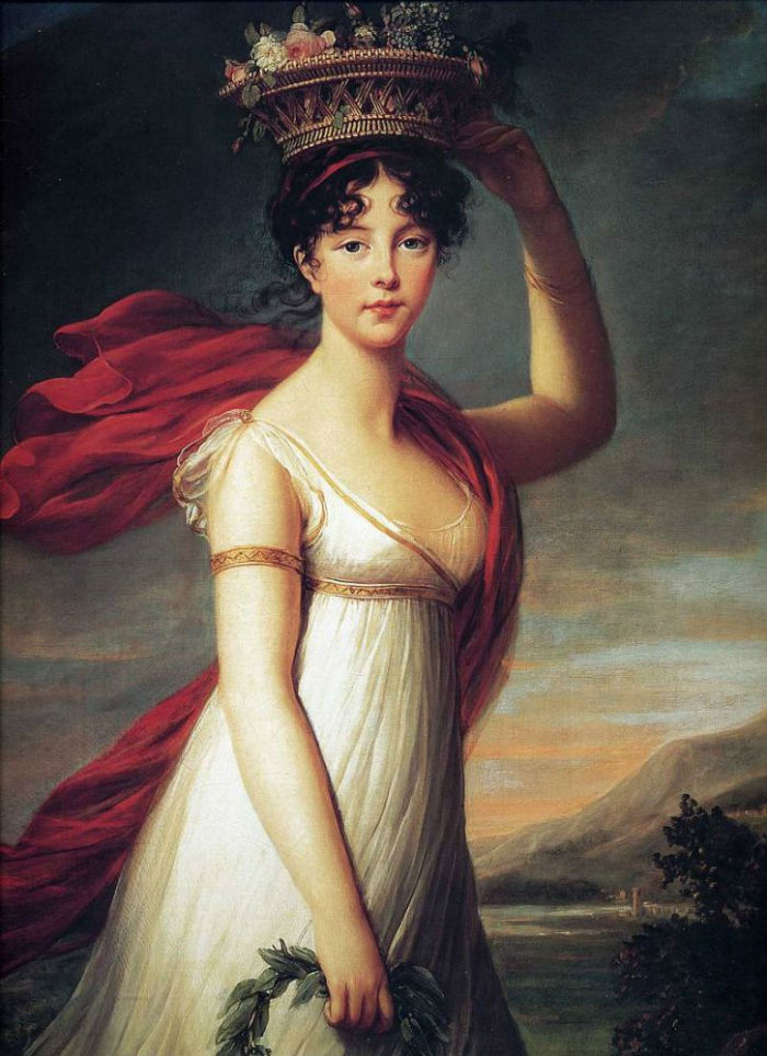 23-Портрет дочери художницы Жанны-Жюли в образе Флоры - 1799.jpg