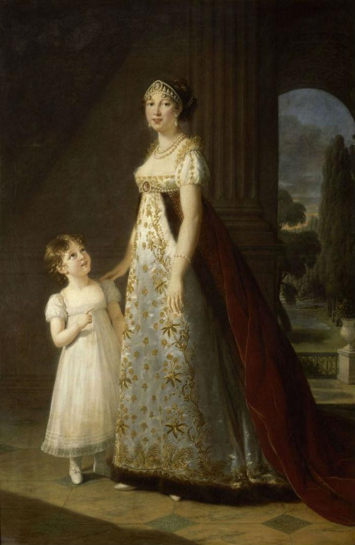 24-Портрет Каролины Мюрат сестры Наполеона с дочерью Летицией - 1807.jpg