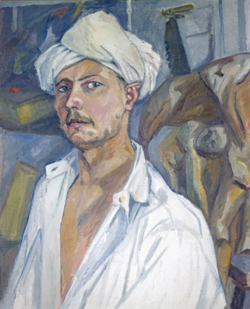 5-Михаил Ларионов - Автопортрет в тюрбане - Около 1907.jpg