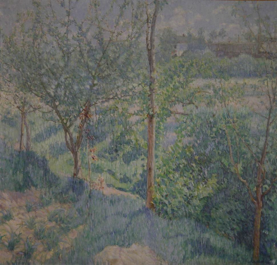 8-Михаил Ларионов - Сад весной (Весенний пейзаж) - 1904.jpg