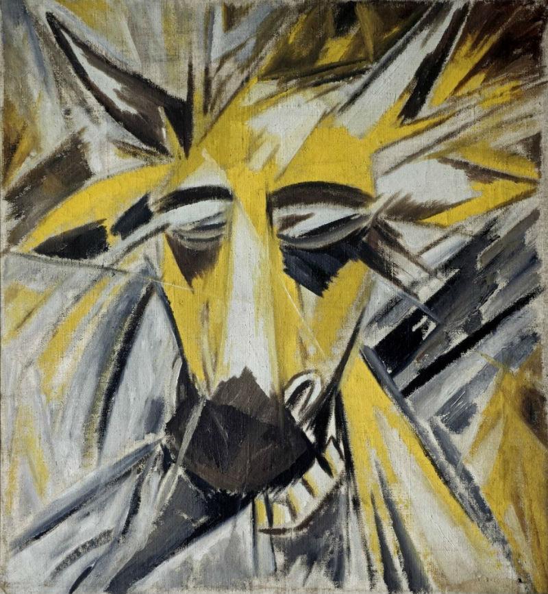 12-Михаил Ларионов - Голова быка - 1913.jpg