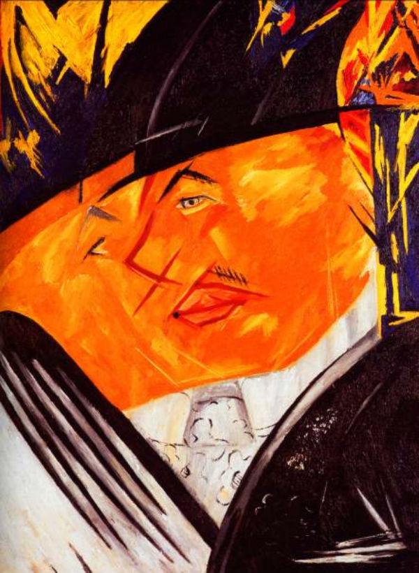 28-Наталья Гончарова - Портрет Михаила Ларионова - 1913.jpg
