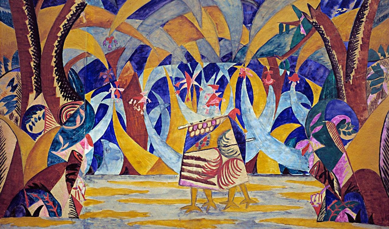30-Михаил Ларионов - Лес Эскиз декорации к балету Русские сказки.jpg