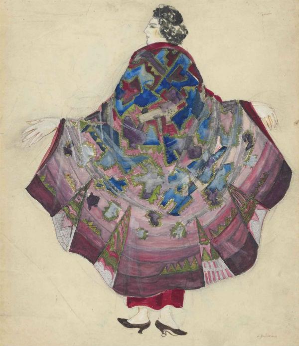 42-Наталья Гончарова - Эскиз вечернего платья Анютины глазки.jpg