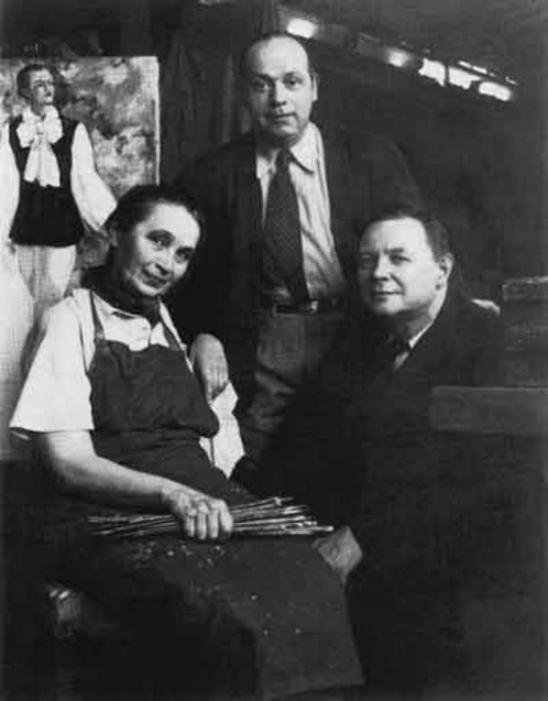 43-В мастерской Гончаровой на улице Висконти 13 - Париж - Август 1939 года.jpg
