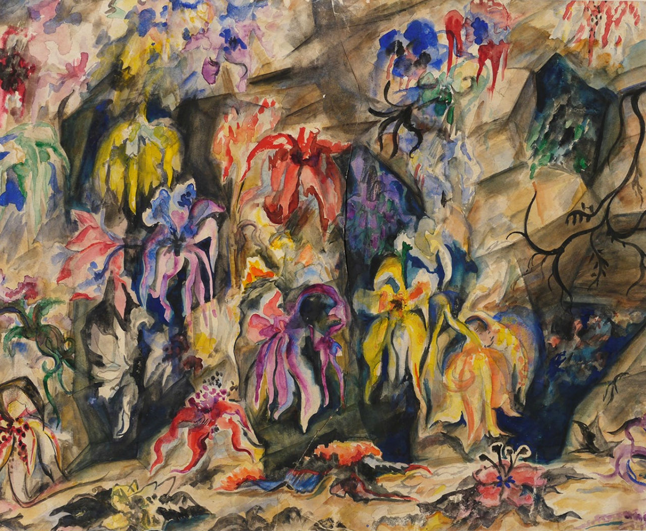 44-Наталья Гончарова - Эскиз декорации к балету - 1948.jpg