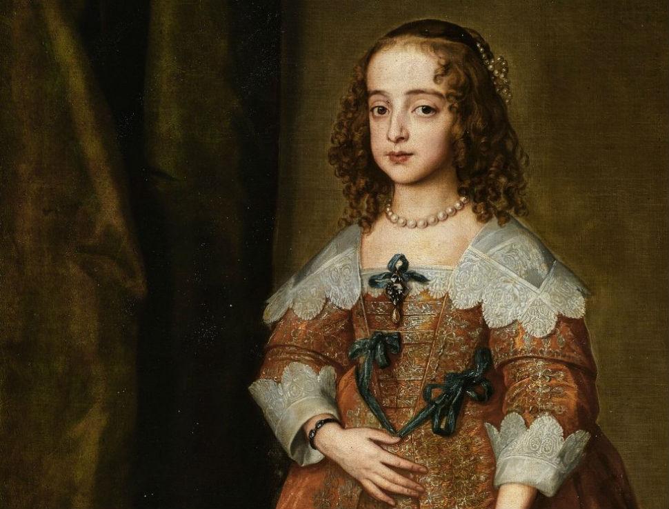 1-Антонис ван Дейк - Портрет Марии королевской принцессы и принцессы Оранской (фрагмент) - 1641.jpg