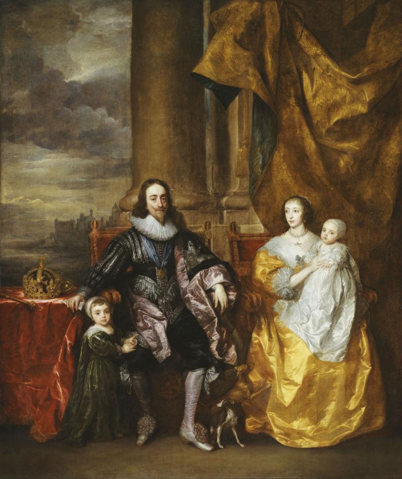4-Антонис ван Дейк - Карл І и Генриетта Мария с двумя старшими детьми принцем Карлом и принцессой Марией - 1632.jpg