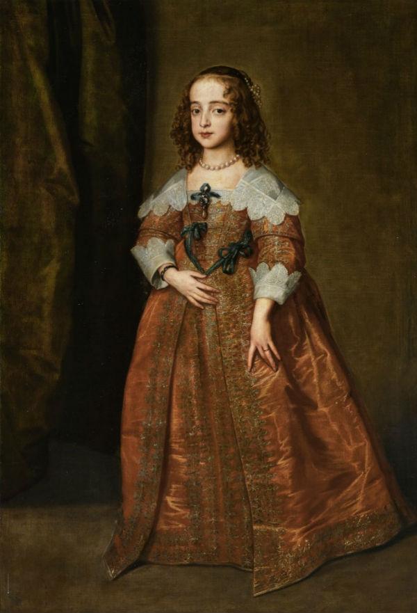 6-Антонис ван Дейк - Портрет Марии королевской принцессы и принцессы Оранской - 1641.jpg