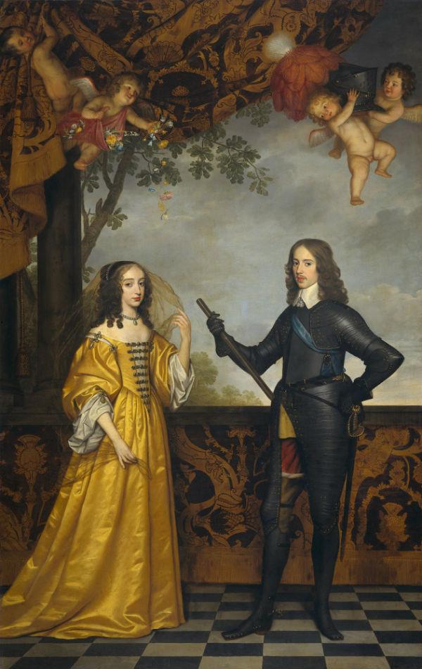 7-Геррит ван Хонтхорст  - Портрет Вильгельма II  принца Оранского и его жены Марии Стюарт - 1647.jpg