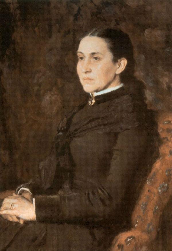 19-Виктор Михайлович Васнецов - Портрет Елизаветы Григорьевны Мамонтовой - 1885.jpg