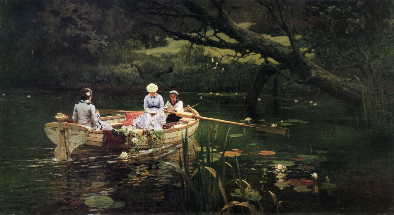 2-Василий Дмитриевич Поленов - На лодке Абрамцево - 1880.jpg