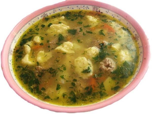 супом с галушками