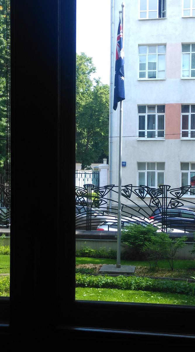 Еще в феврале я смотрел в это окно из-за ограды и вот я здесь, а ограда за окном)))