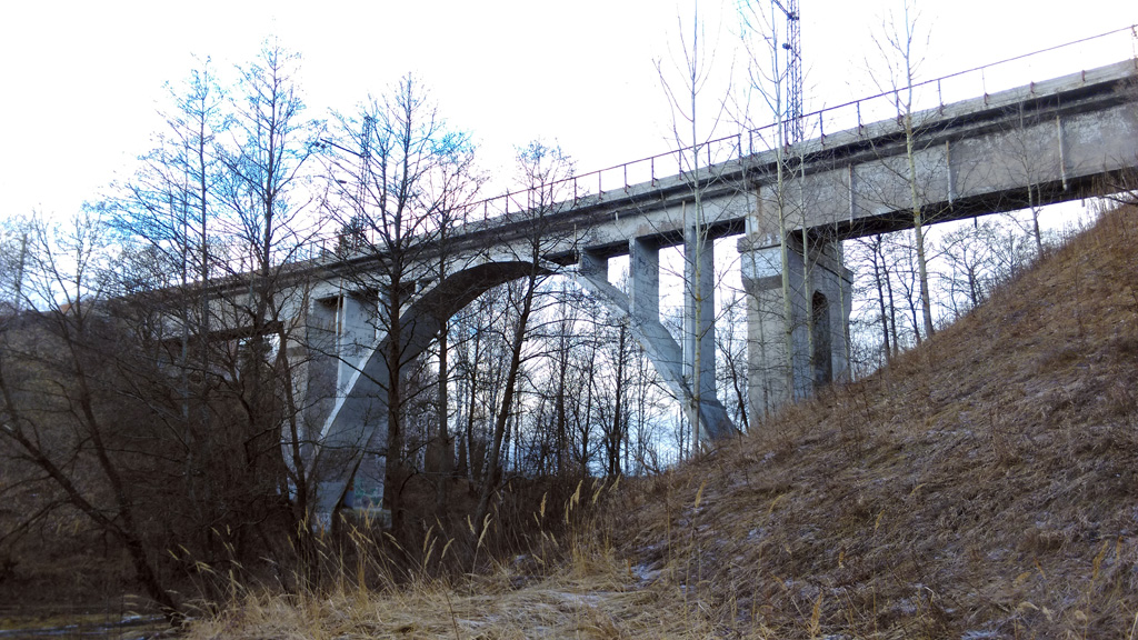 Железнодорожный мост через р. Каширка.
