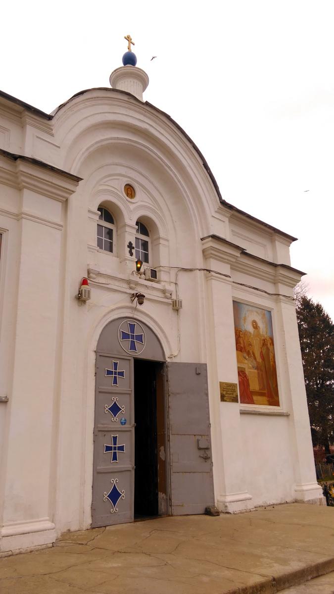 """После немецкой оккупации, в 1948-1949 гг. был отреставрирован и обновлена настенная роспись. Храм был закрыт в 1951 г. """"из-за отсутствия служб"""", но вновь открыт в 1955 г., более не закрывался. В настоящее время главный храм Конаковского благочиния."""