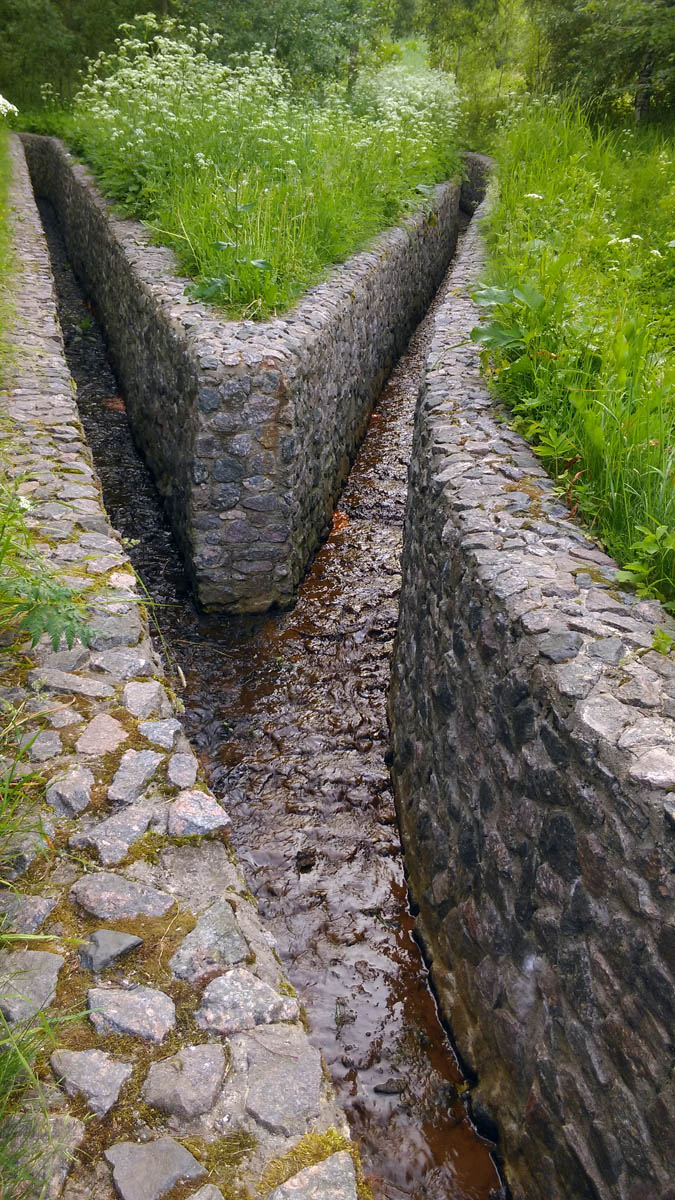 Водоотводный канал в Коломенском.