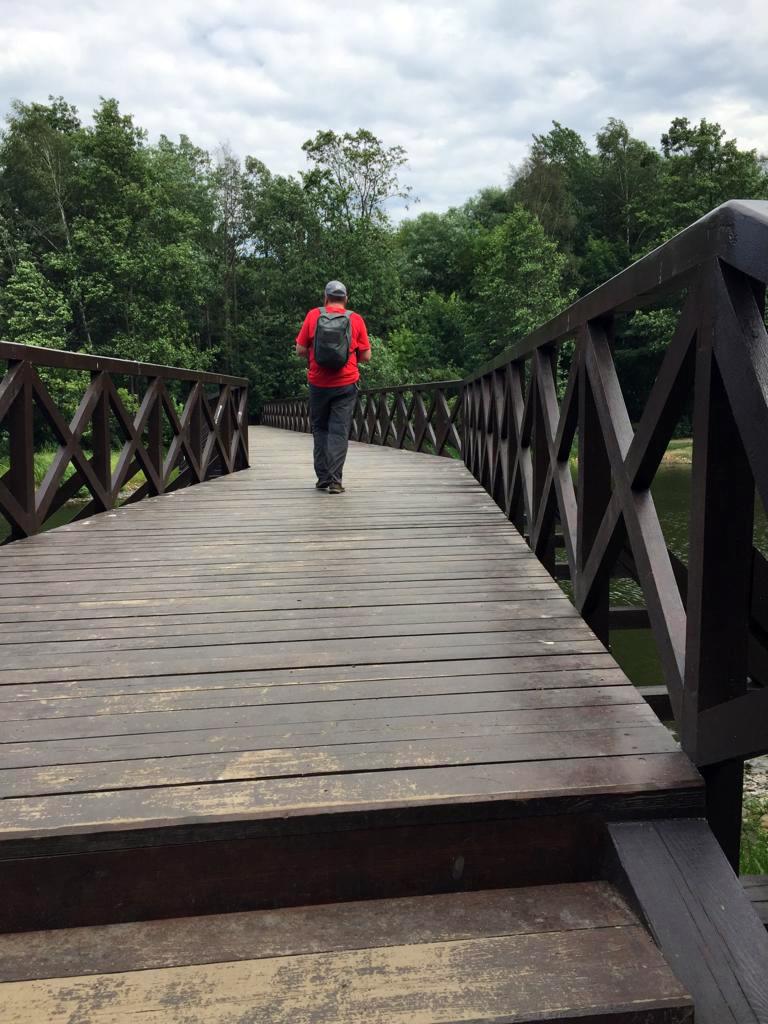 Деревянный Пешеходный мост в  Покровское-Стрешнево