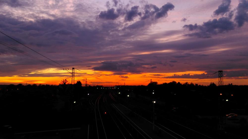 И снова красивый закат...