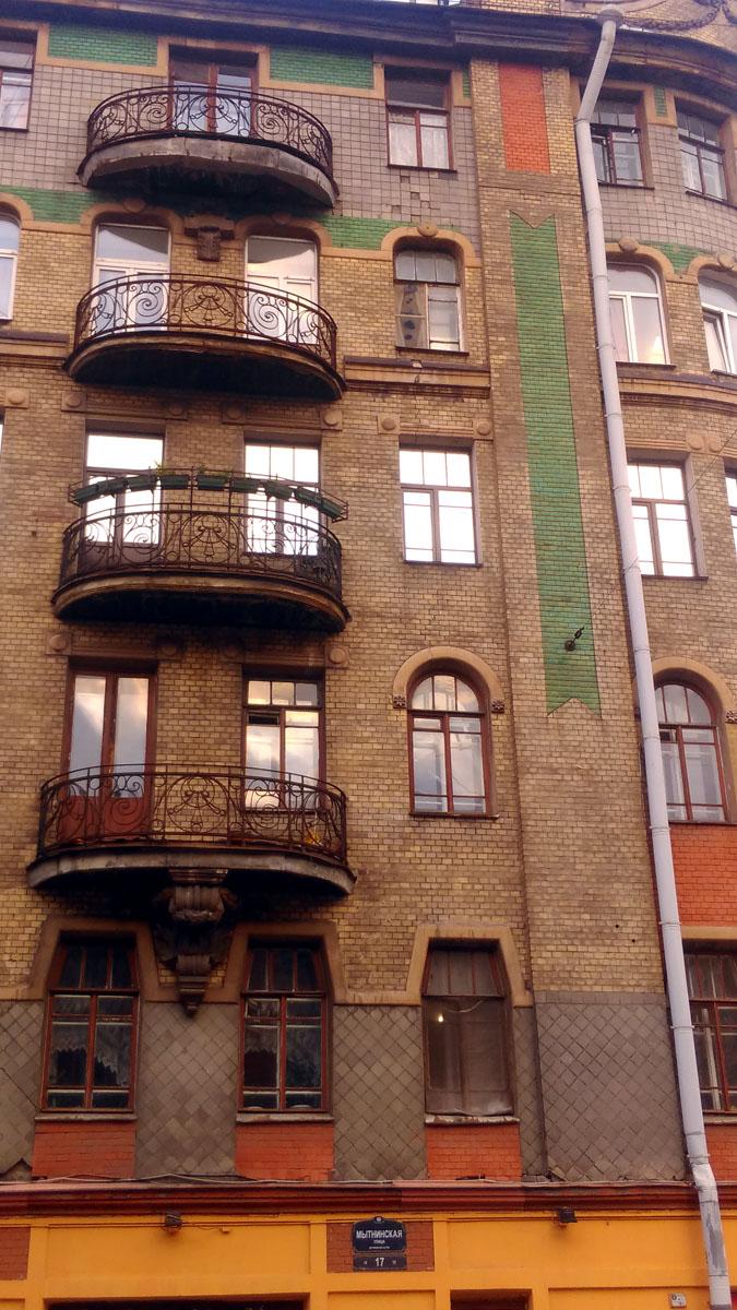 Кованная ограда балконов